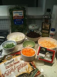 Enchilada Ingredients Prepped