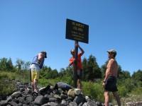 Beament Island sign gets a paint job !