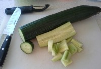 Wash and Peel your Cucumbers