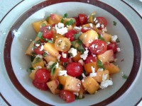 Tomato and Fresh Peach Salad
