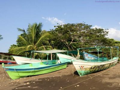 Fishing boats in Playa Tarcoles Costa Rica