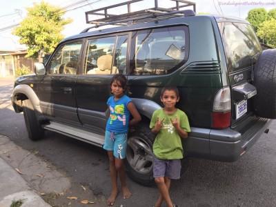 Children in Playa Tarcotes Costa Rica