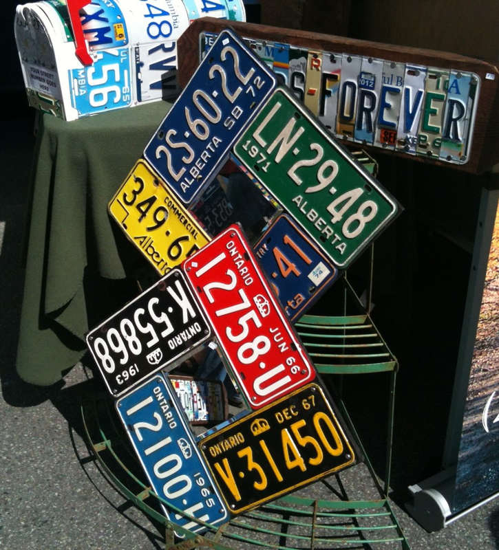 The license plate artist.