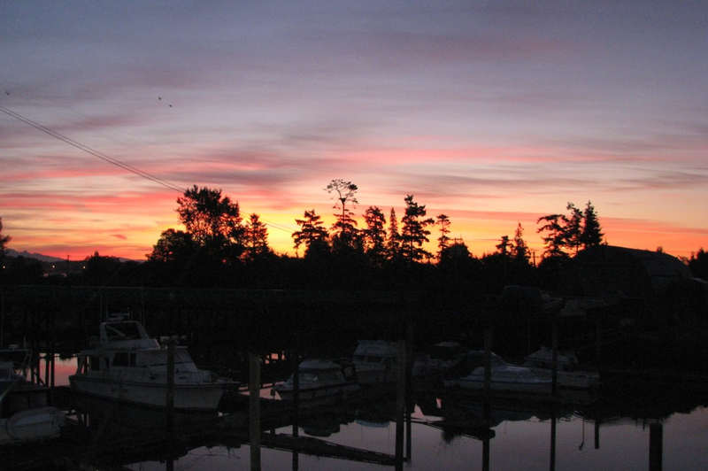 Sunrise from my deck in Ladner BC August 31, 2013
