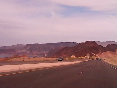 Leaving Las Vegas near Lake Mead