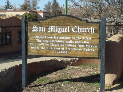 San Miguel Church Sign