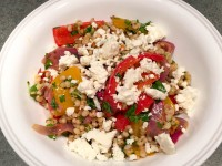 Roasted Veggie Whole Grain Sorghum Salad