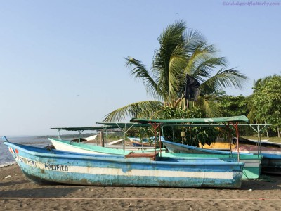 Fishing boats in Playa Tarcoles Costa Rica