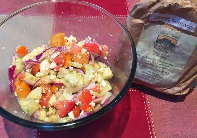Local Tomato Cucumber Salad